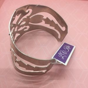 LV Kiki Jewelry - Silver tone cuff with geometric cutouts  NEW